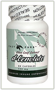D-Lenolate - Olive Leaf Extract - 60 capsules; 500 mg.